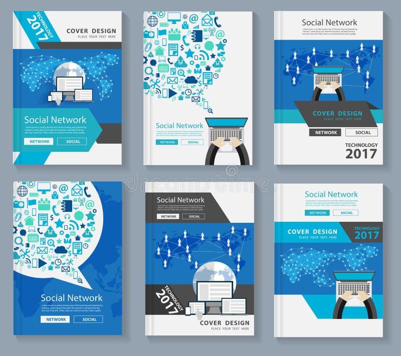 Medios del social de la tecnología de la innovación de la portada de revista del negocio del vector libre illustration