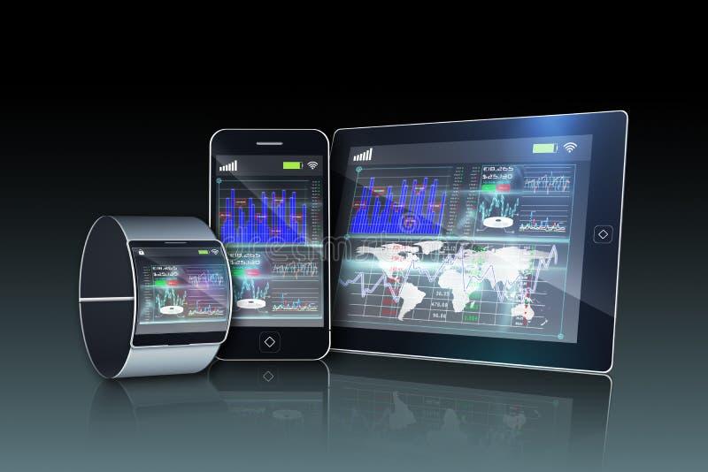 Medios dispositivos con la exhibición del interfaz libre illustration