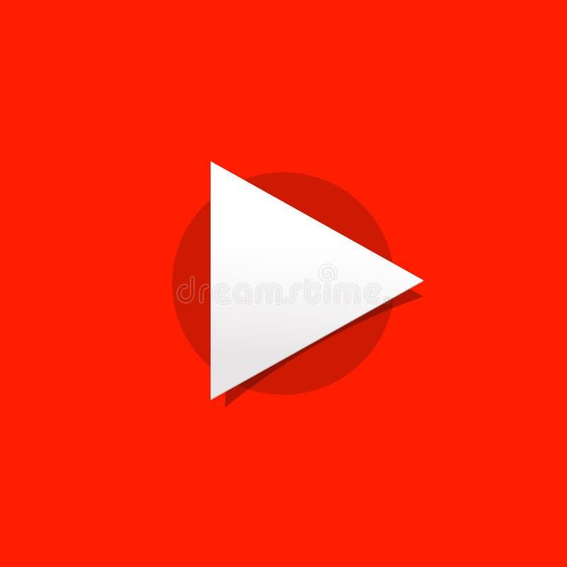 Medios ejemplo del vector del botón, icono del juego, nuevo arte del diseño, logotipo simple de las multimedias stock de ilustración