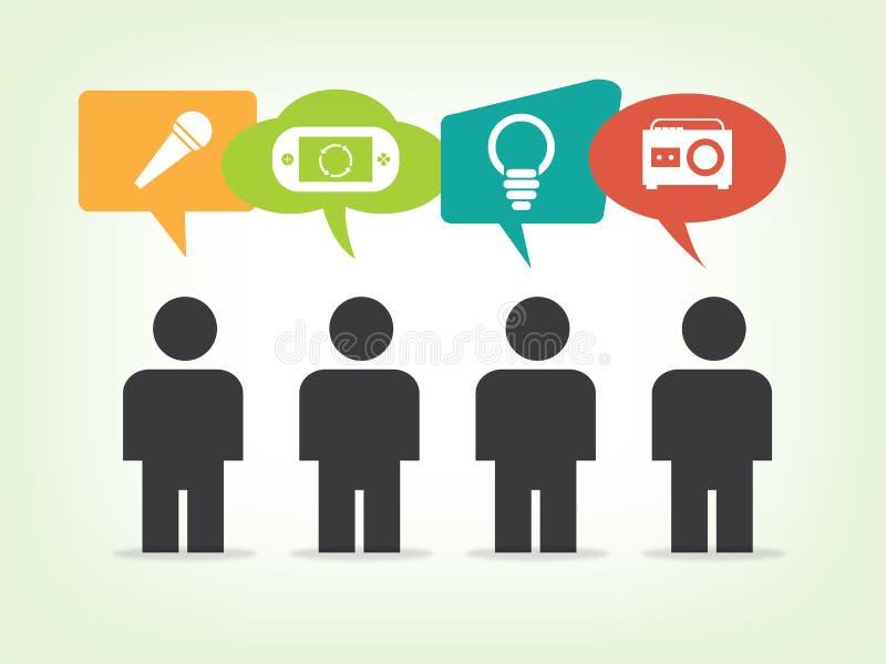 Medios ejemplo social de la red, vector, icono ilustración del vector