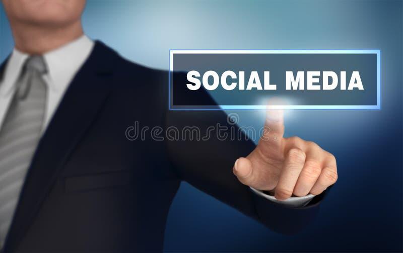 medios ejemplo social del concepto que empuja 3d imágenes de archivo libres de regalías