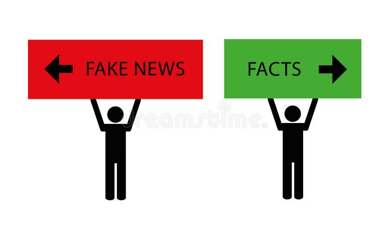 Medios falsos del pictograma de las noticias ilustración del vector