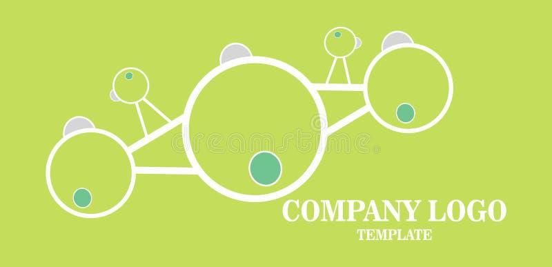 Medios icono simple del vector del logotipo del negocio ejemplo para el avión de aire, viaje stock de ilustración
