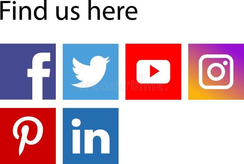 Medios iconos sociales libre illustration