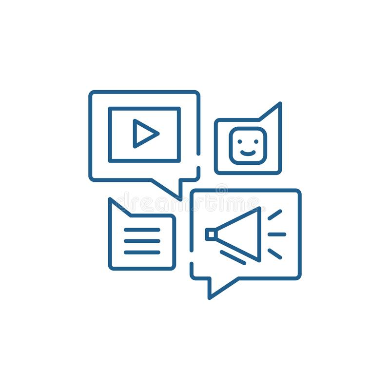 Medios l?nea en l?nea concepto de la biblioteca del icono S?mbolo plano del vector de la medios biblioteca en l?nea, muestra, eje ilustración del vector