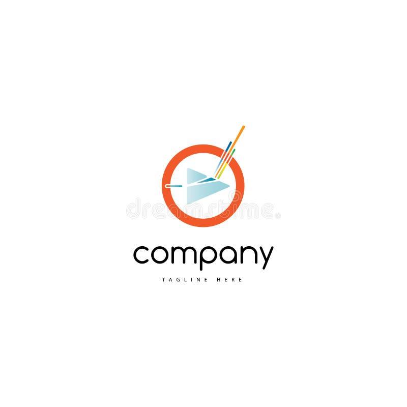 Medios logotipo stock de ilustración