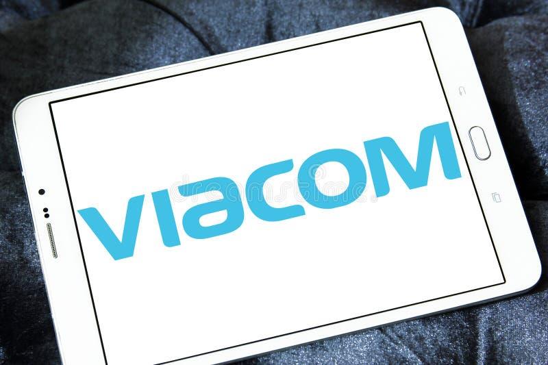 Medios logotipo de la compañía de Viacom imagenes de archivo