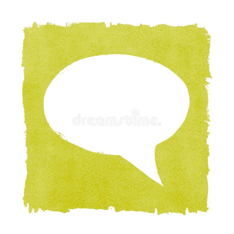 Medios marco de caja verde pintado burbuja social del discurso ilustración del vector