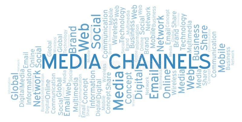 Medios nube de la palabra de los canales libre illustration
