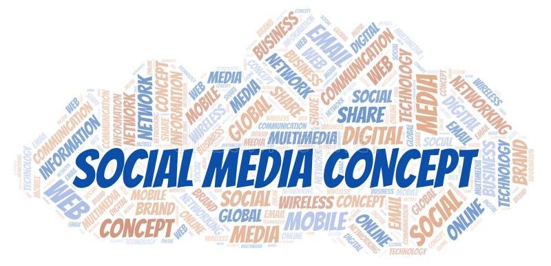 Medios nube social de la palabra del concepto stock de ilustración