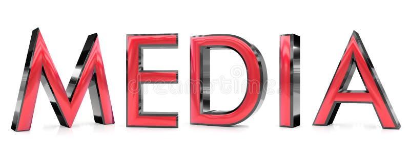 Medios palabra 3d ilustración del vector