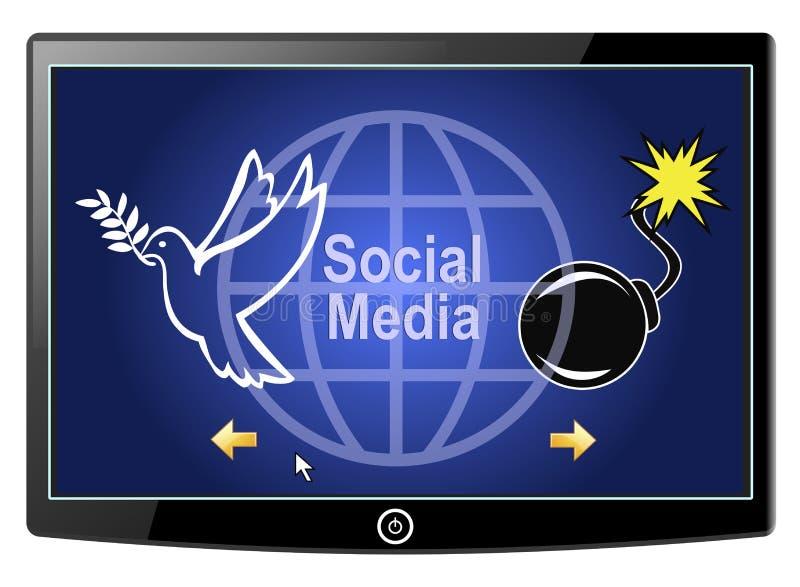 Medios paz o guerra social libre illustration