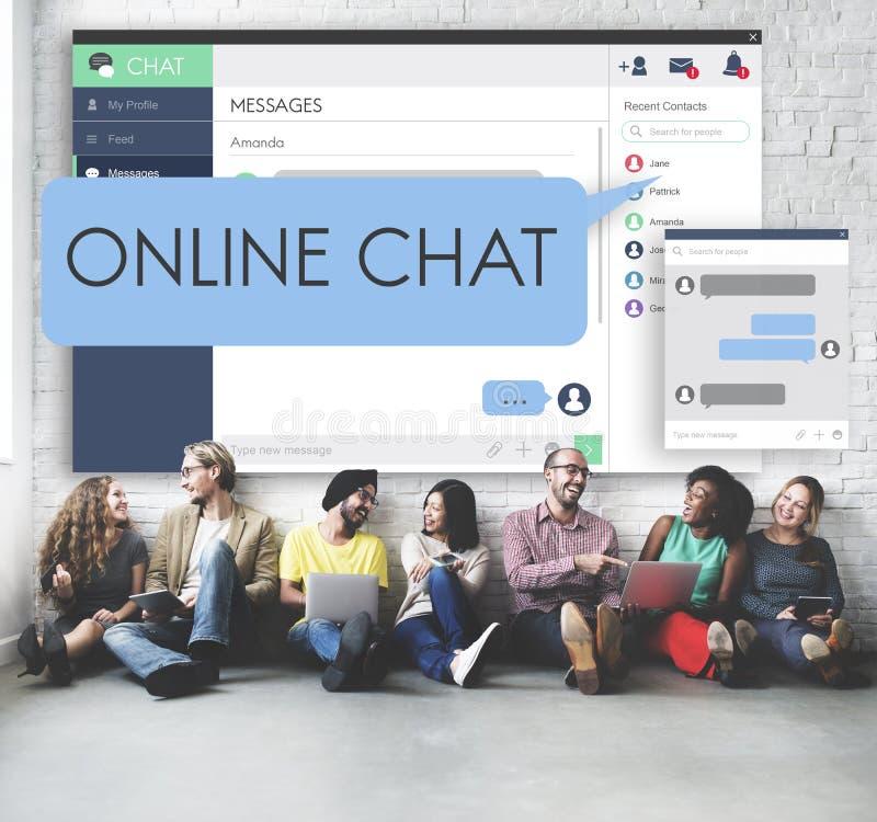 Medios red de Internet en línea que comparte concepto social imagen de archivo