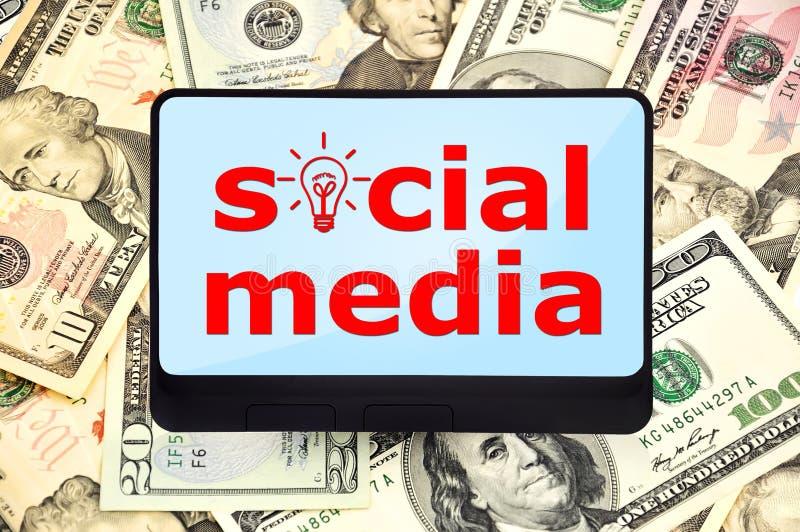 Medios sociales fotos de archivo