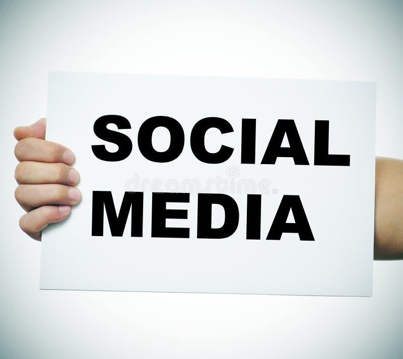 Medios sociales fotos de archivo libres de regalías