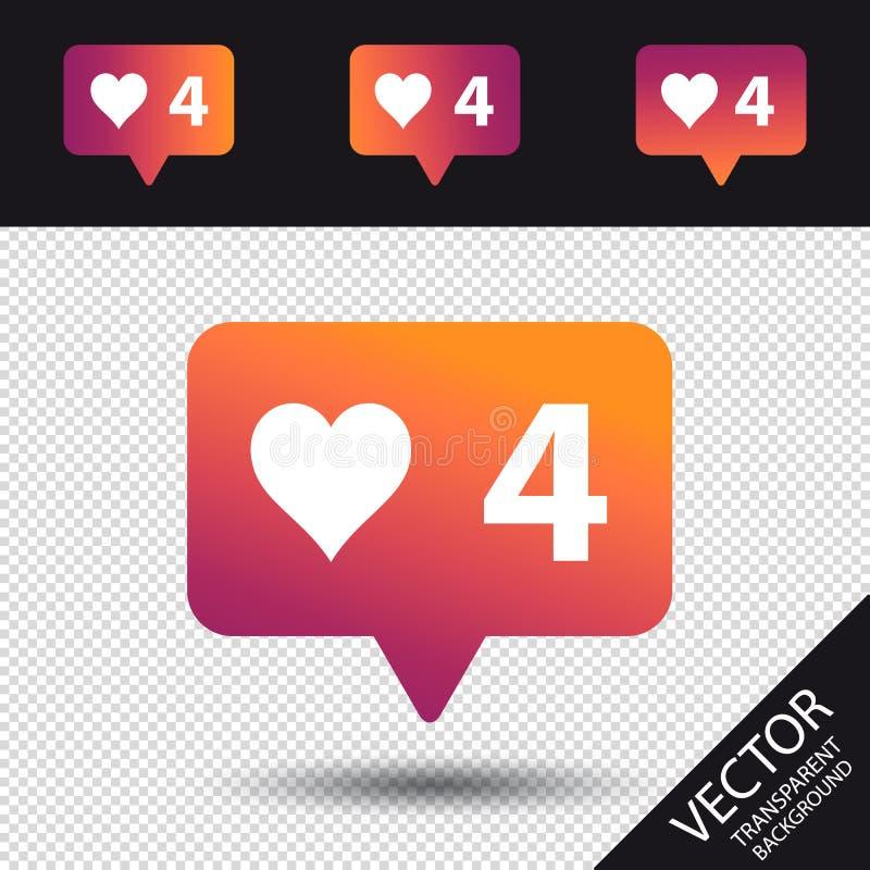 Medios sociales como la burbuja del discurso - ejemplo moderno del vector - aislada en fondo transparente y negro libre illustration