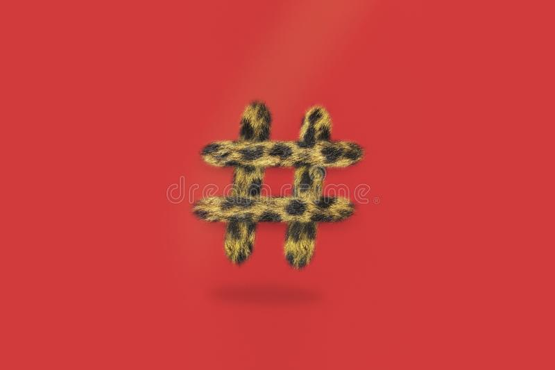 Medios sociales de Hashtag del guepardo imagen de archivo