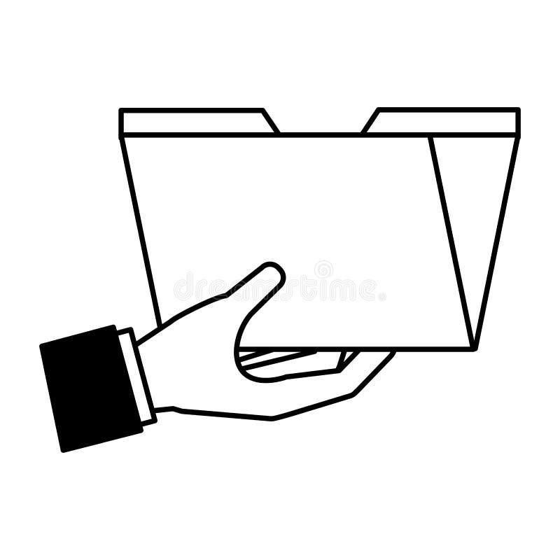 Medios sociales del fichero de la carpeta de la tenencia de la mano libre illustration