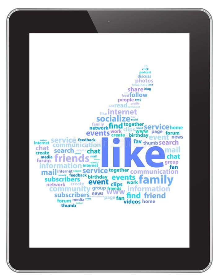 Medios tecnología social stock de ilustración