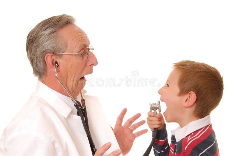 Medique com paciente 6 imagem de stock