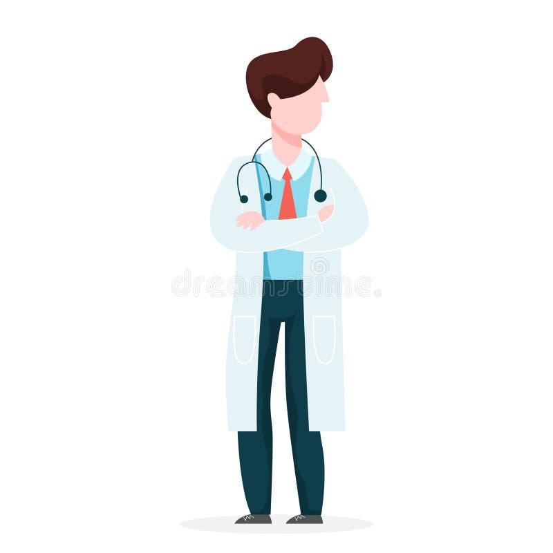 Medique em uma posi??o uniforme Ideia da charneca ilustração royalty free