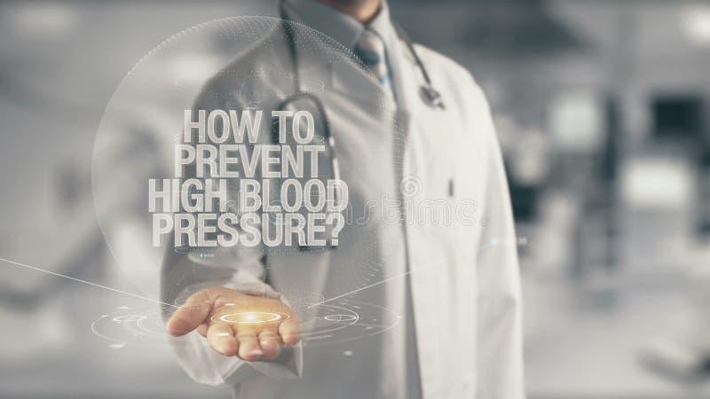 Medique guardar à disposição como impedir a hipertensão fotos de stock royalty free