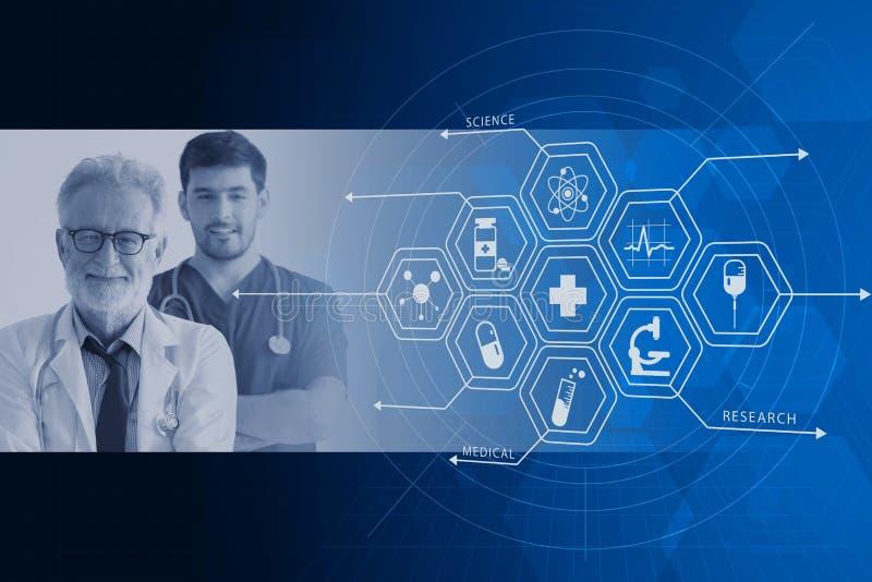 Medique o projeto de gráficos do backgrond da folha de prova do serviço dos cuidados médicos do hospital foto de stock royalty free
