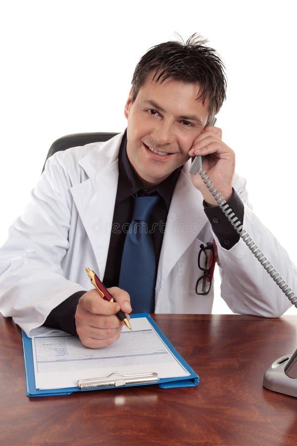 Medisch advies of overleg stock foto