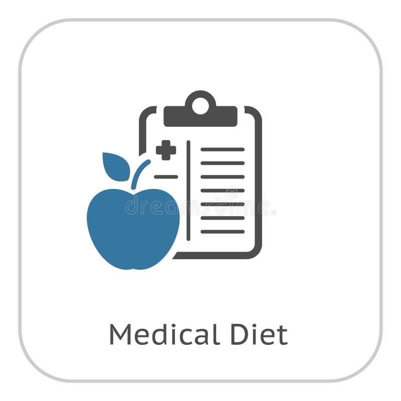 Medisch Dieet Vlak Pictogram stock illustratie