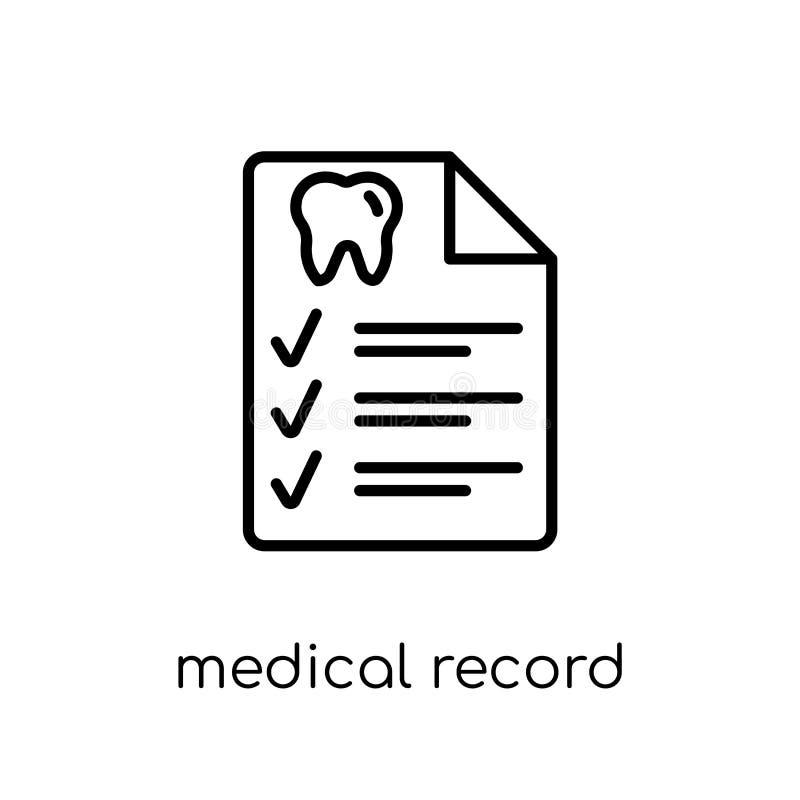 Medisch dossierpictogram  vector illustratie