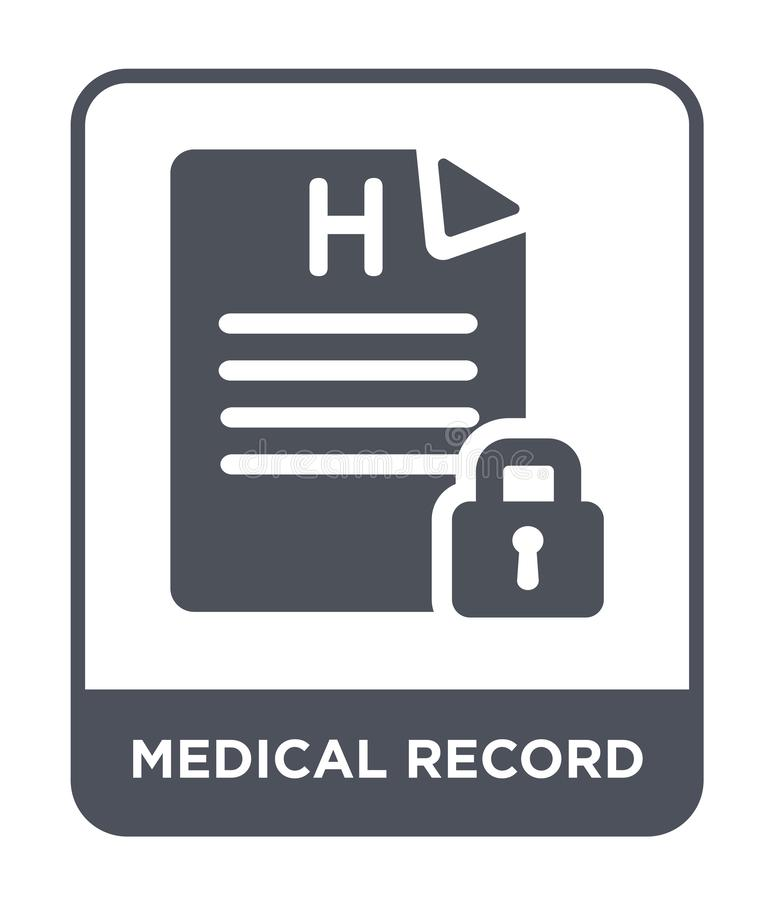 medisch dossierpictogram in in ontwerpstijl medisch dossierpictogram op witte achtergrond wordt geïsoleerd die eenvoudig medisch  vector illustratie