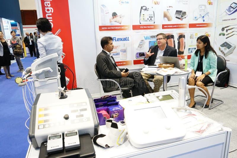 Medisch Eerlijk Thailand hield bij QSNCC-exhibitionalzaal die pres stock foto's