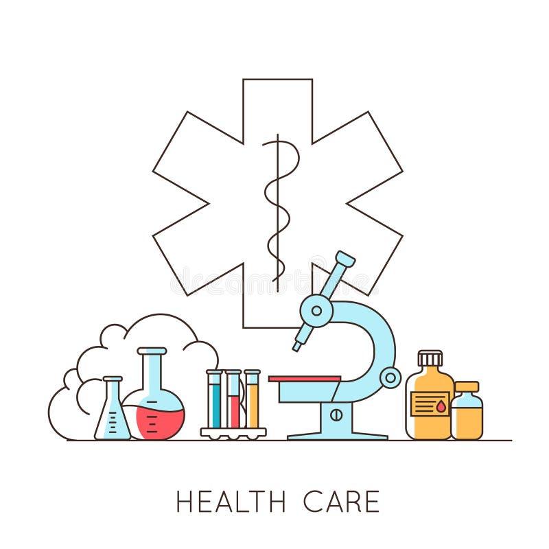 Medisch en laboratoriummateriaal vector illustratie