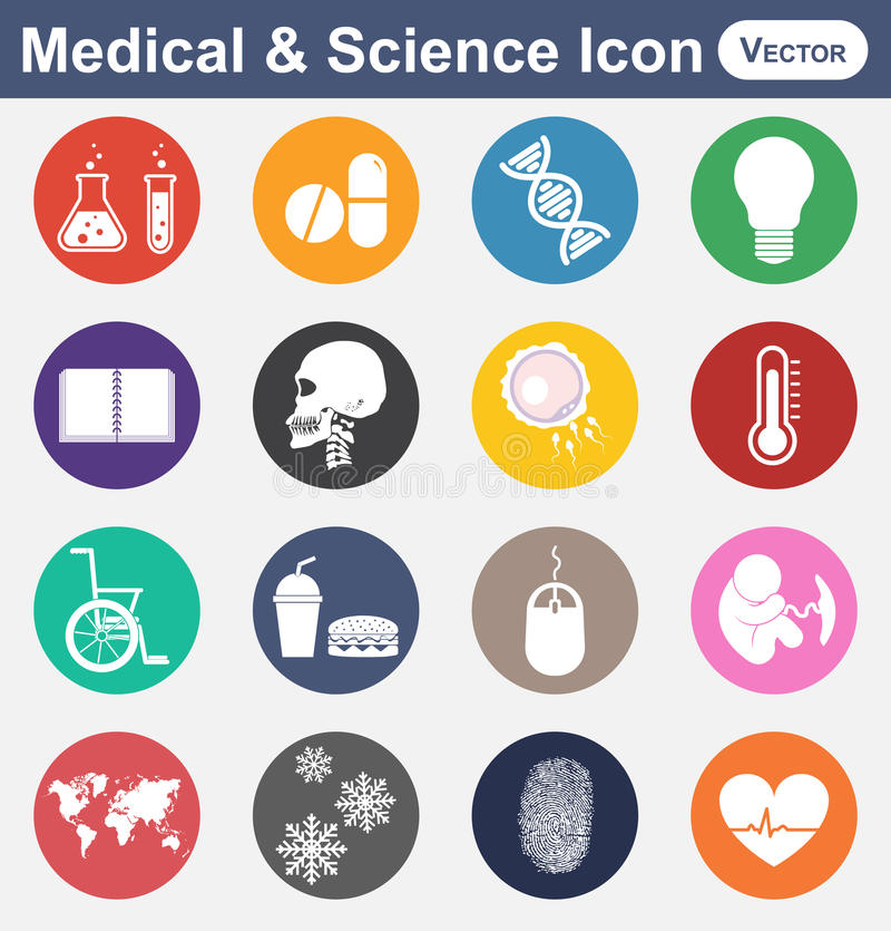 Medisch en Wetenschapspictogram royalty-vrije illustratie