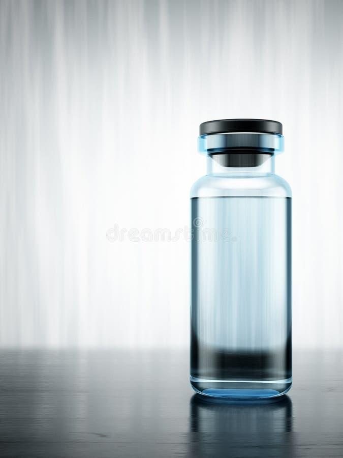 Medisch flesje royalty-vrije illustratie