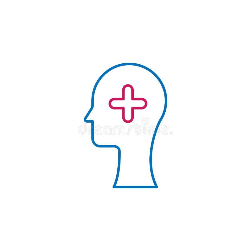 Medisch, geneeskunde, leid gekleurd pictogram Element van geneeskundeillustratie Tekens en symbolen het pictogram kan voor Web, m royalty-vrije illustratie