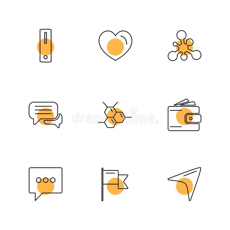 medisch, gezondheid, navigatie, gesprek, eps geplaatste pictogrammen vec stock illustratie