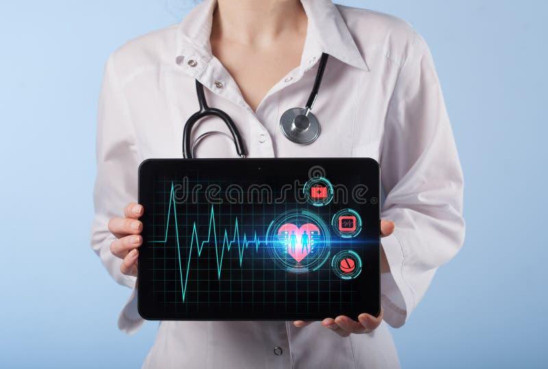 Medisch Gezondheidszorgconcept - symbool van medi van de geneeskundeinnovatie stock fotografie