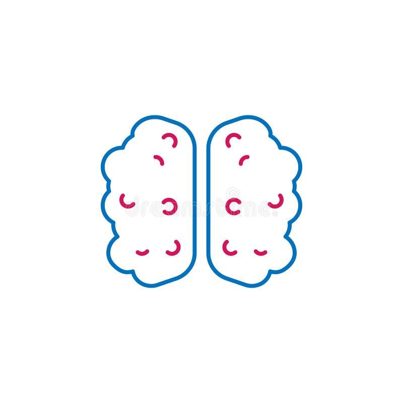 Medisch, hersenen gekleurd pictogram Element van geneeskundeillustratie Tekens en symbolen het pictogram kan voor Web, embleem, m stock illustratie