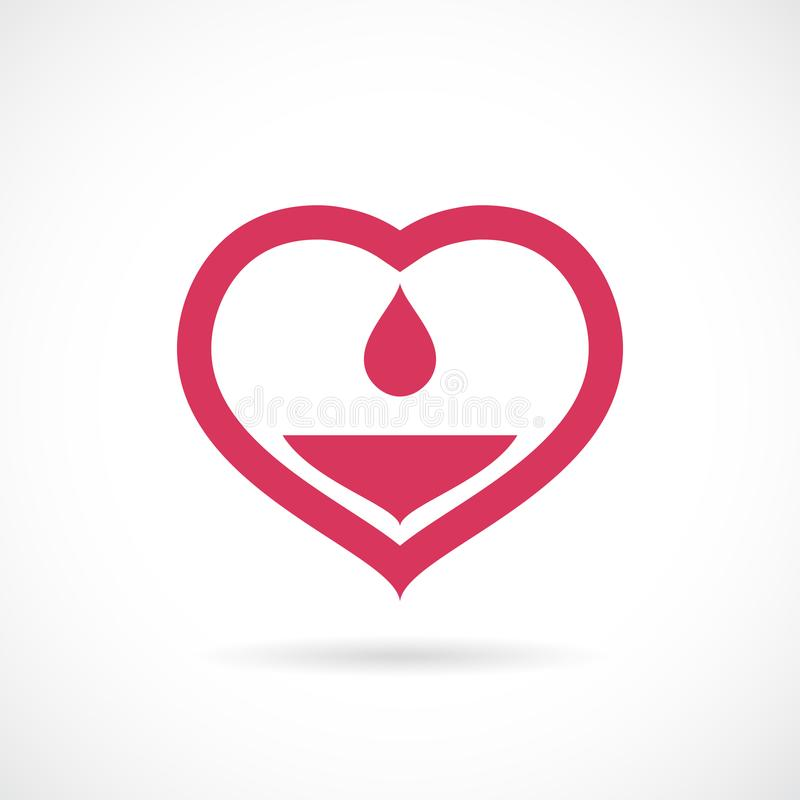 Medisch het conceptenpictogram van bloeddonorship stock illustratie