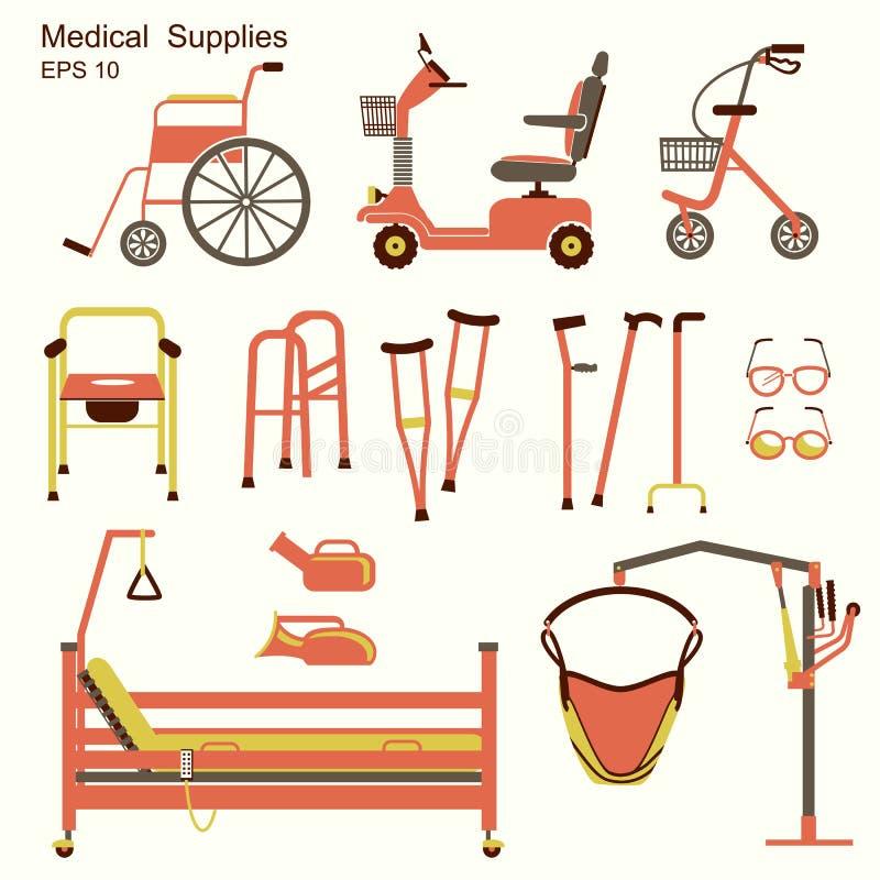 Medisch het ziekenhuismateriaal voor gehandicapten royalty-vrije illustratie