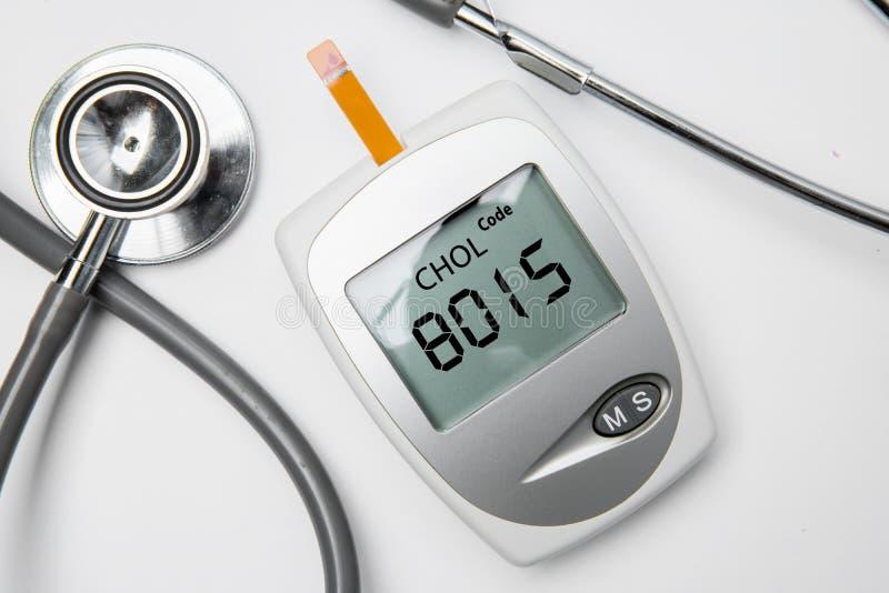Medisch hulpmiddel om cholesterol te meten royalty-vrije stock foto