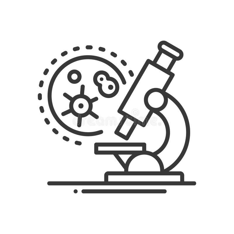Medisch laboratorium - het enige geïsoleerde pictogram van het lijnontwerp royalty-vrije illustratie
