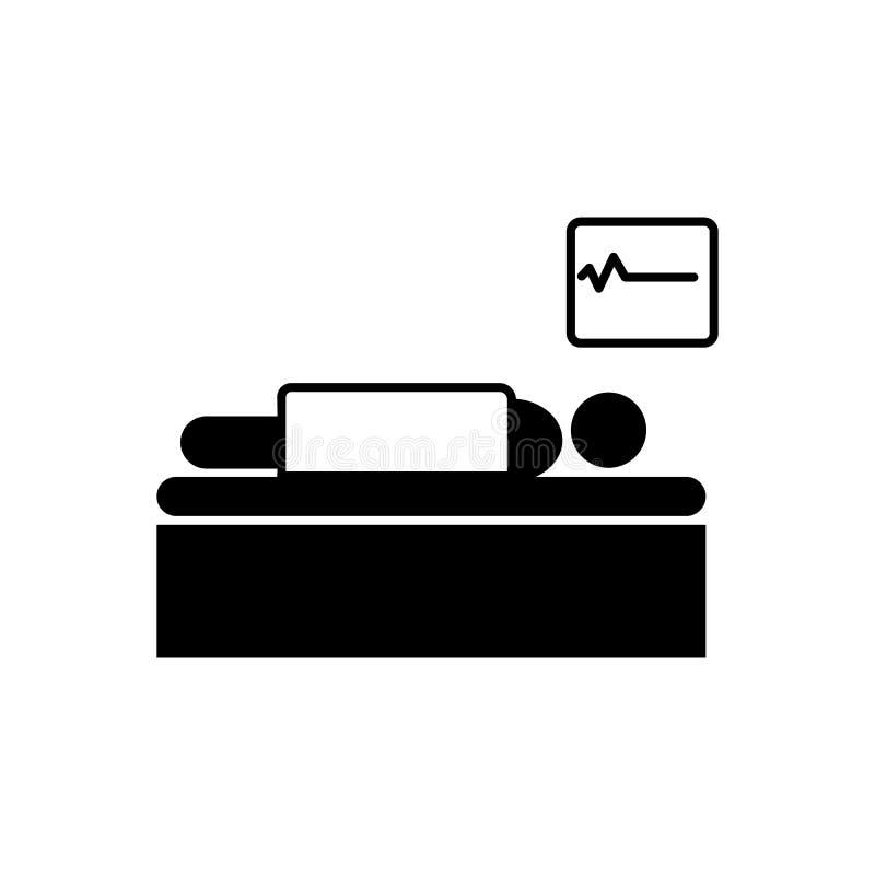 Medisch mensen dood futloos pictogram Element van de illustratie van de pictogramdood vector illustratie