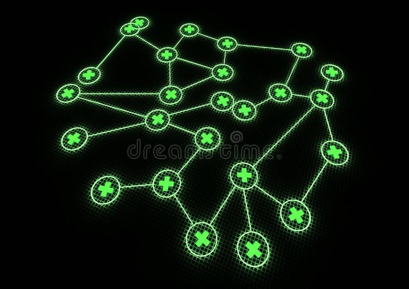 Medisch netwerk vector illustratie