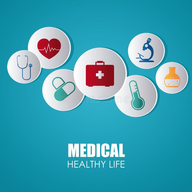 Medisch ontwerp royalty-vrije illustratie