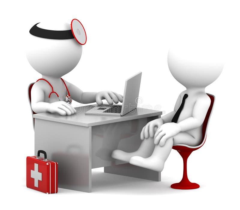 Medisch overleg. vector illustratie