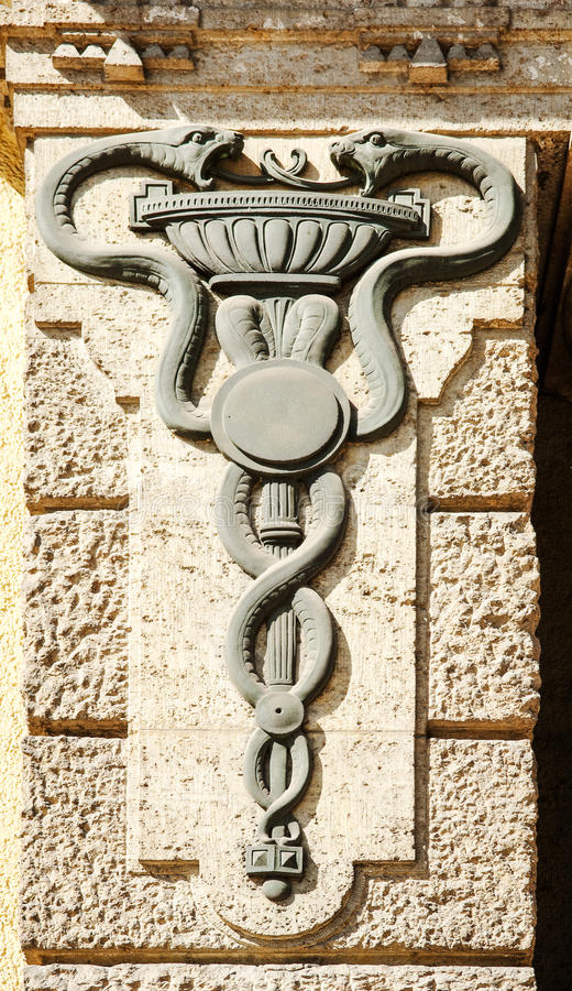 Medisch personeel - Caduceus royalty-vrije stock afbeeldingen