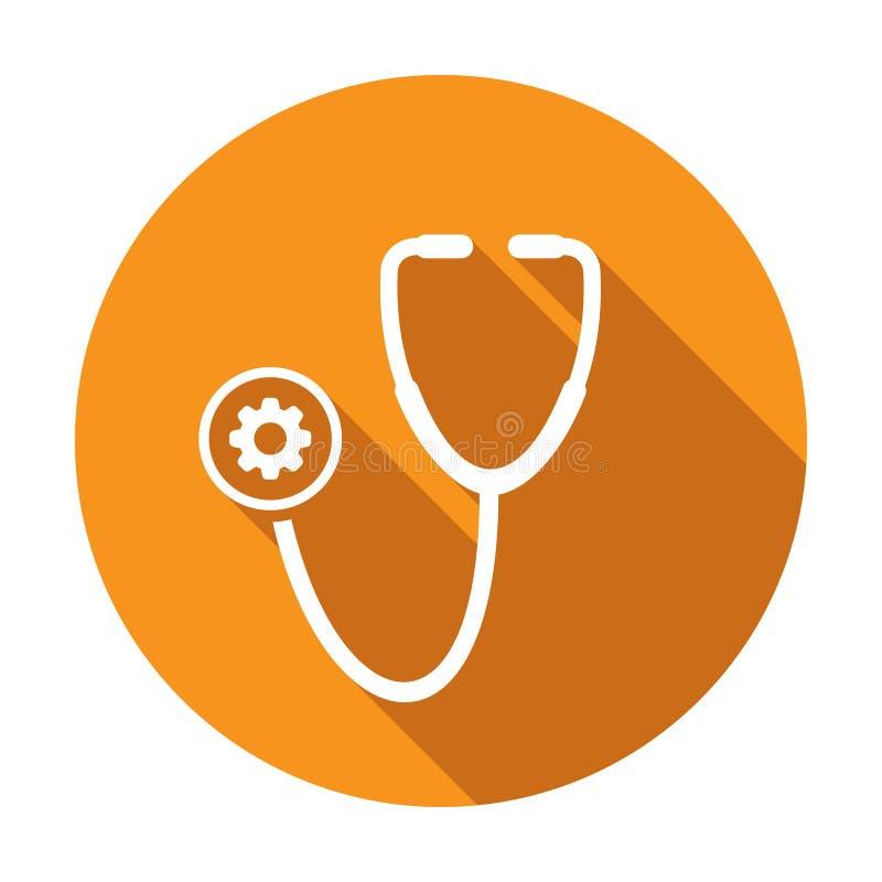 Medisch pictogram met montagesteken Het medische pictogram en past, opstelling, leidt, verwerkt symbool aan vector illustratie
