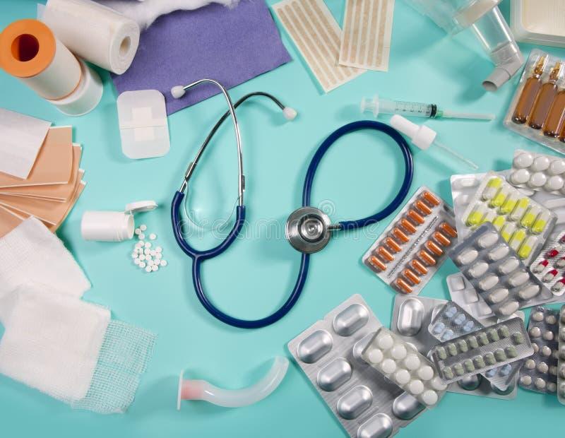 Medisch pillen farmaceutisch materiaal royalty-vrije stock afbeelding
